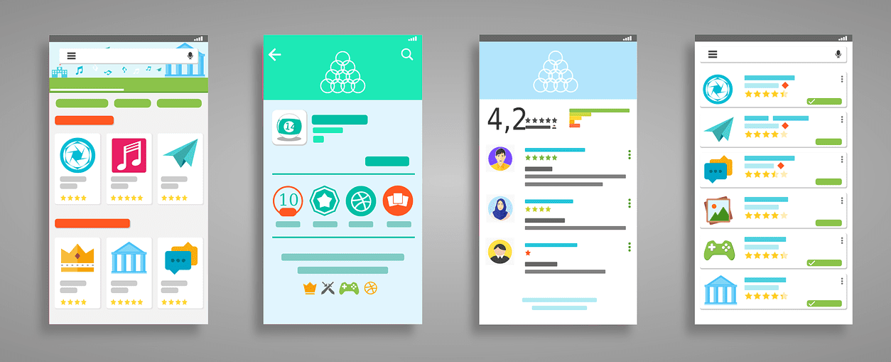 User interface of small business mobile app