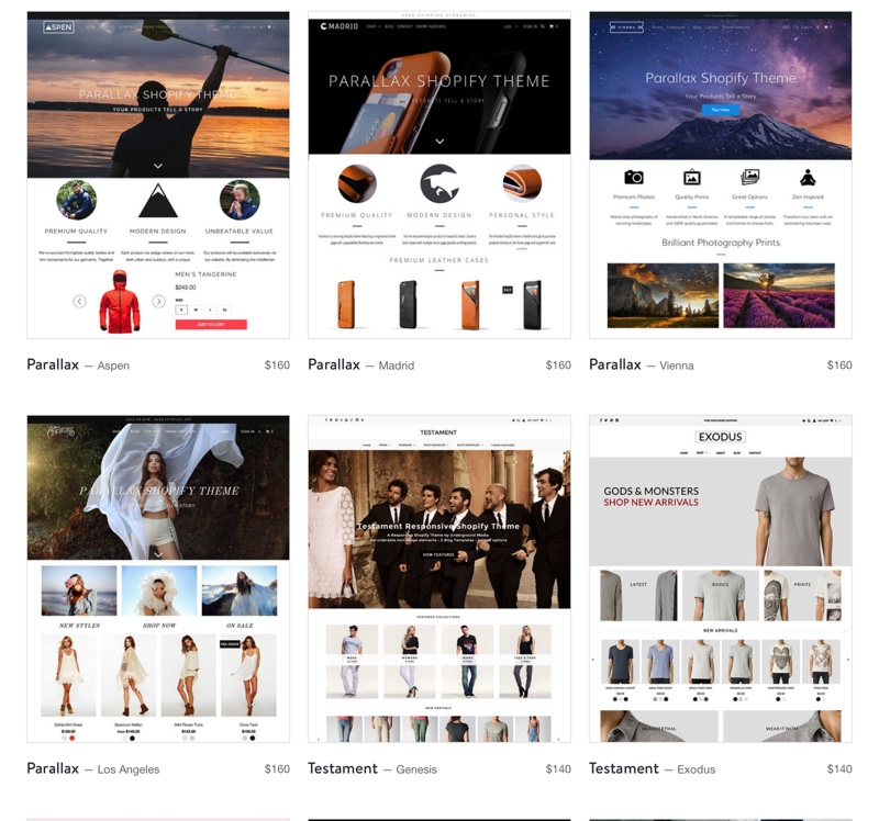 Shopify ecommerce platform reviews themes