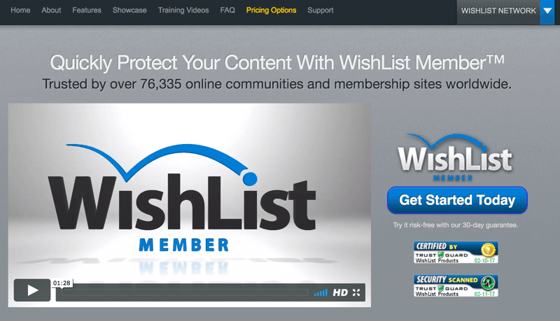 Membership Site Services Review - Wishlist